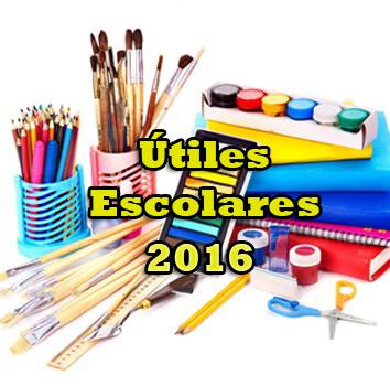 Útiles escolares 2016